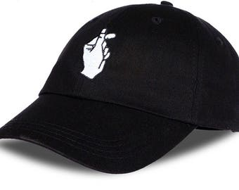 Finger Snapping Dad Cap Hat Gesture Baseball