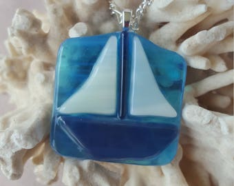 Cool Blue Sailboat