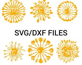 Center Pack #4 - Paper Flower Center Giant Silhouette Cricut