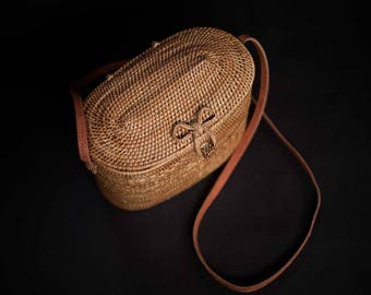Dungki Ata Rattan Bag, Unique Summer Bag, Beautiful Evening Bag, Perfect Summer Bag and Perfect Gift for Her Birthday