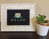 Mesa, Arizona LDS Temple - Modern Cross Stitch Pattern PDF - Instant Download