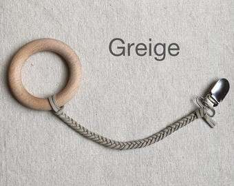 Greige Soother Clip