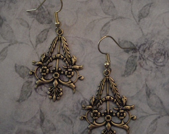 Victorian Antiqued Gold Earrings