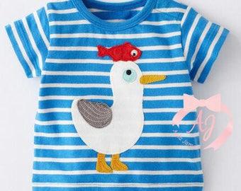 Seagull - Fish Applique Shirt