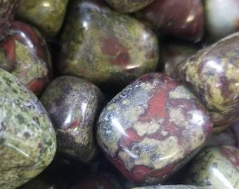 Natural Dragon's Blood Jasper Agate Tumbled Stone Mineral Specimen