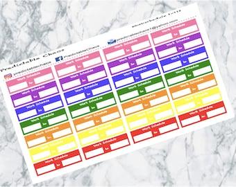 Work Schedule, planner stickers
