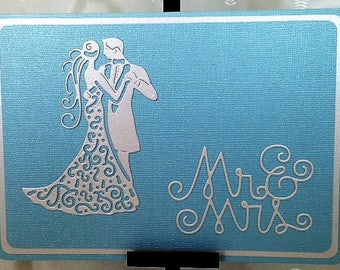 Mr. & Mrs. - Wedding Card -  Being Deeply Loved By Someone - Handcrafted Greeting Card w/verse - Wedding Card - W/Heartfelt Messages