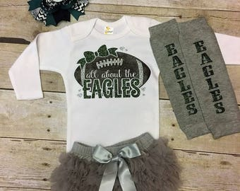 Philadelphia eagles baby girl outfit