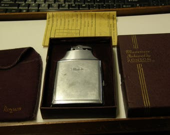 Vintage Ronson Mastercase Cigarette Case Lighter - Engraved RJR