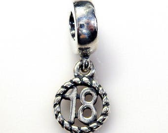 "Authentic Pandora ""18th Birthday"" 790495 Brand New!"