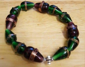 Chinese glass lampwork bracelet