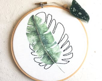 Take it or Leaf it Embroidery and Color Print art