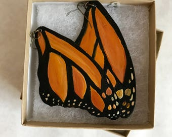 Handprinted Butterfly Earrings