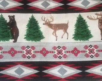 Christmas plaid book sleeve
