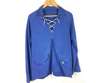 RALPH LAUREN Sport Medium Size Ralph Lauren Sweatshirt Pull Over With Pockets