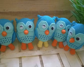High quality hand knitted owl toy