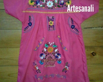 Traditional Mexican hand Embroidered dress size 4/