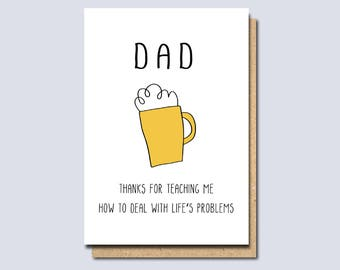 funny card for dad, Dad Birthday Card, Dad card, Card for dad, Father's day card, Card for Father, daddy birthday card, card for daddy,