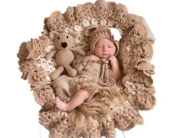 Teddy Bear Newborn Prop 3 pc Set