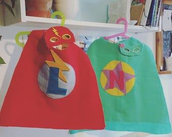 layer and mask of superhero