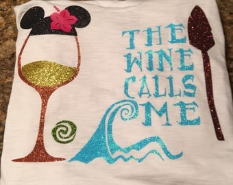 Moana shirt, Disney shirt, Disney Food and wine, the wine calls me, Epcot