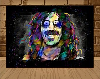 frank zappa poster,frank zappa print,frank zappa art,zappa poster,zappa print,zappa art,painting print,zappa painting,music poster,music art