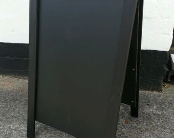 Black Wooden A Board - Chalkboard - Blackboard - Pavement Sign -100 x 60cm