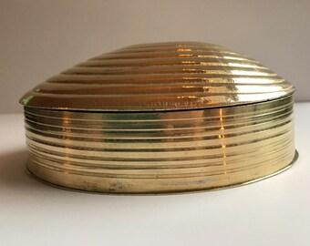 Brass Clam Shell Trinket Box