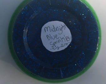 Midnight blue sprinkles slime