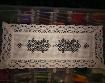 Cross stitch blackwork bookmark