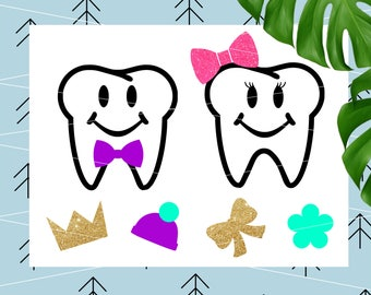 Teeth SVG for Tooth Fairy Bags Tooth svg Tooth Fairy Svg Create your own svg for Cricut Silhouette Cutting File svg dxf png eps lfvs