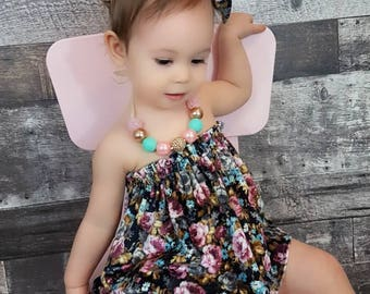 Floral Crop Top, Floral Diaper Cover, Baby Strapless Top, 1st Birthday girl Outfit, Baby girl crop top, Floral Bloomer, NB- 6T
