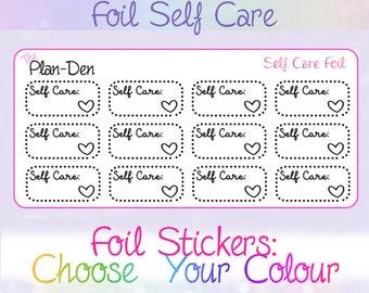 Self care Stickers - Foil Stickers, Planner Stickers, care Stickers, self Stickers, personal Stickers,  Foil planner, foil, self love