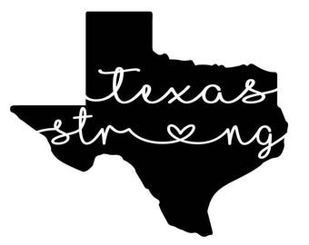 Texas Strong Vinyl Decal, Houston Strong, Rockport Strong, Port Arthur Strong, Hurricane Harvey Fundraiser, Hurricane Harvey Relief