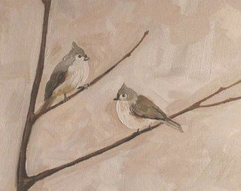 Original Oil Painting Birds Gift for couple Painting for sale Wall Art Home decor Interior art Gift for Wedding anniversary