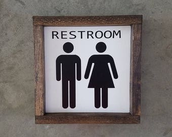 RESTROOM FARMHOUSE SIGN