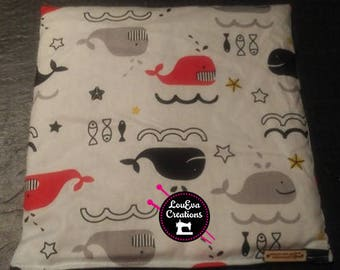 Little magical bag with oatmeal / fabric/red/fish/Fish/whale/Black/Black/gift/Shower/baby/belly/colic cold flu bobo compress