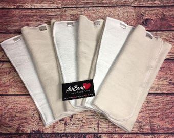 Set of 6 trifolds (3 bamboo/cotton + 3 bamboo/cotton/FM)