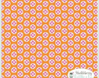 Flutter & Float, Buttercup Orange, Ana Davis, Blend Fabrics, , Quilting Fabric, Cotton Fabric, Yardage