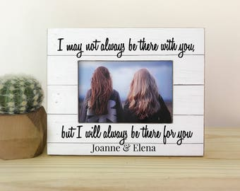 Long Distance Friendship Frame Personalized Picture Frame Gift Long Distance Friendship