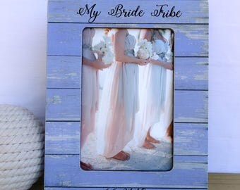 Bride Tribe Frame Maid of Honor Gift Bridesmaids Gift. Sister in law Frame. Bridesmaid Thank you Gift  Personalized Bridesmaid Frame