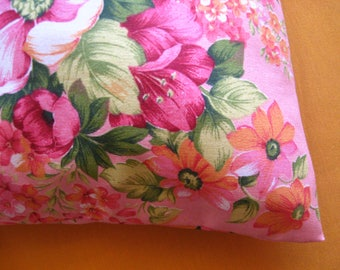 pilow case ,free shiping , canvas pillow case , flower pillow
