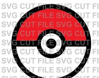 25%OffSale SVG Cut File~ Pokemon Ball Pokeball Multi Layer Cut File~Silhouette Cut File~Cameo ~Cricut ~Vinyl, Tshirts, Clipart