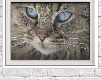 Cat Counted Cross Stitch Pattern