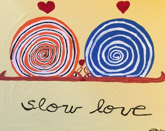 slow love #3 - acrylic painting-