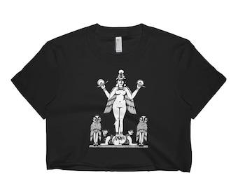 Lilith Goddess Women's Crop Shirt