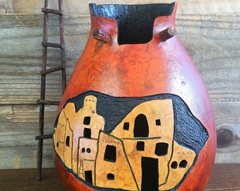 Gourd / Mesa Verde / American Southwest/ Southwest / Handmade / Earth Friendly / Sustainable / Gift / Housewarming