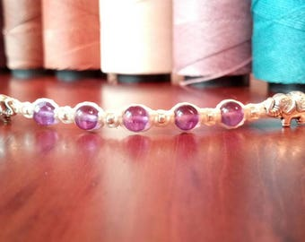 "Amethyst bracelet ""Spirits Faith"" purple bracelet"
