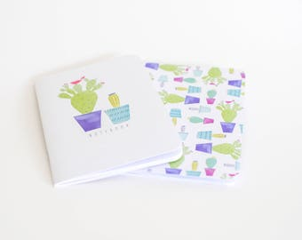 Cacti Notebook Set Blue A5