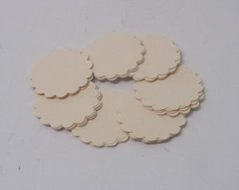 50 Small Ivory Cardstock  flower shape tags, gift tags, note tags, price tags